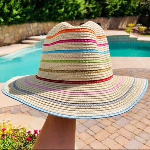 The Accessory Collective Striped Summer Straw Hat